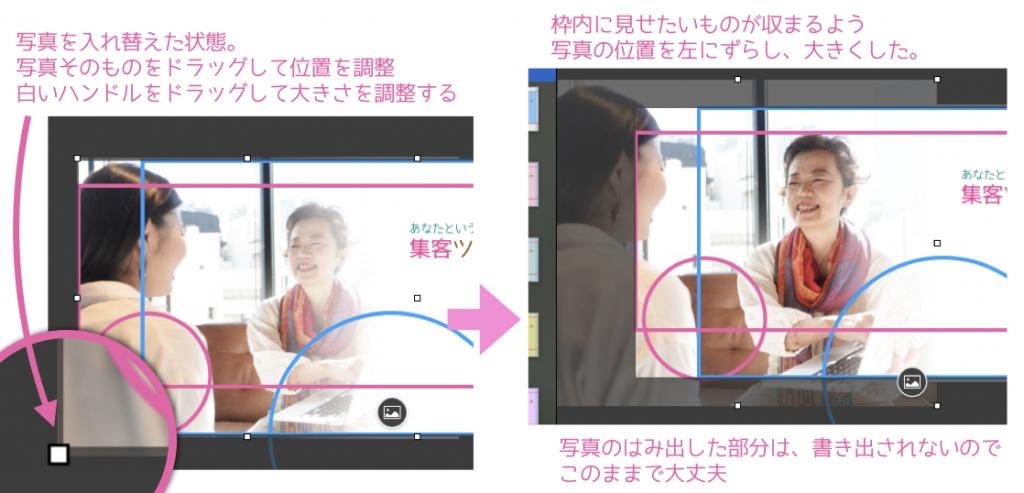 Facebookカバー画像写真の位置調整